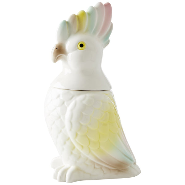 Large Cockatoo Ceramic Jar