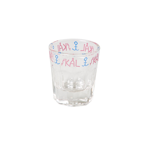 Shot Glass with Sailor Print