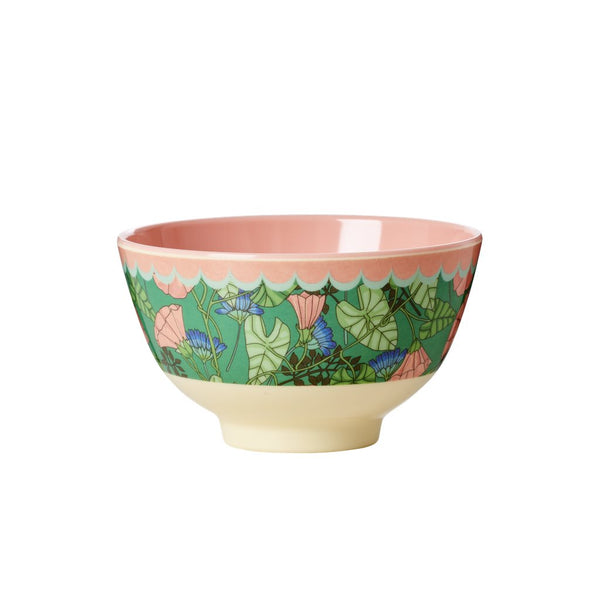 Small Melamine Bowl with Bindweed Print