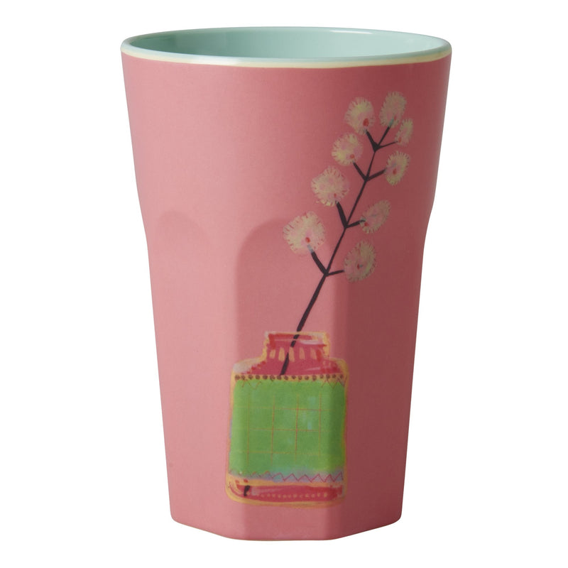 Tall Melamine Cups in 3 Assorted Flower Prints