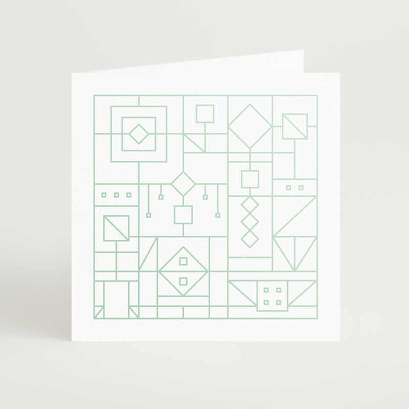 Metallic Square Card Set of 8