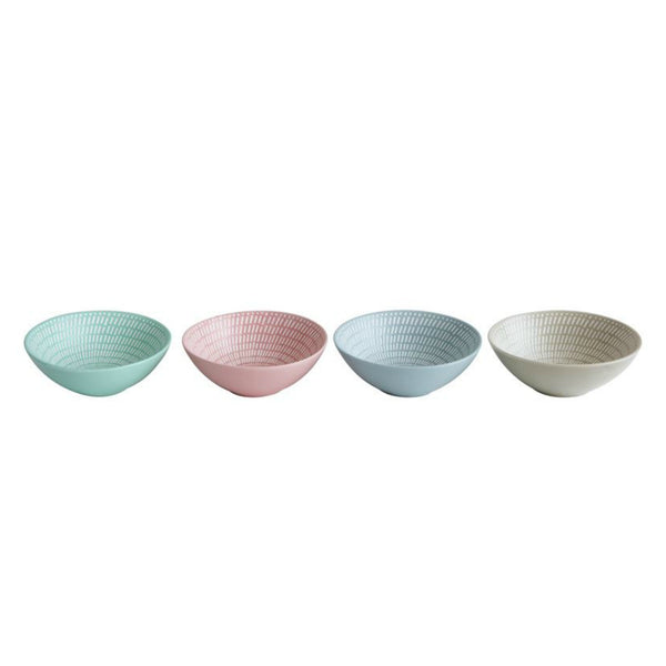 Pastel Colored Stoneware Bowl - 4 colors