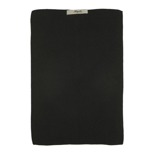 Towel Mynte Black knitted