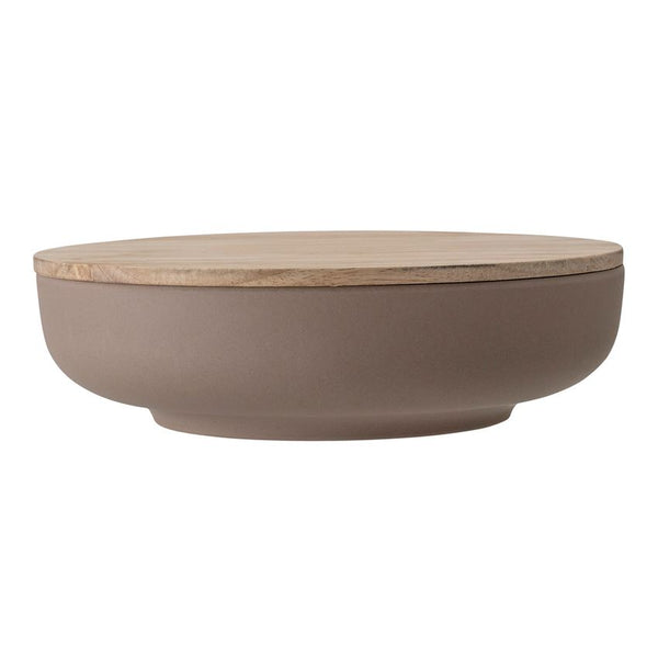 Brown Bamboo Fiber Bowl With Lid