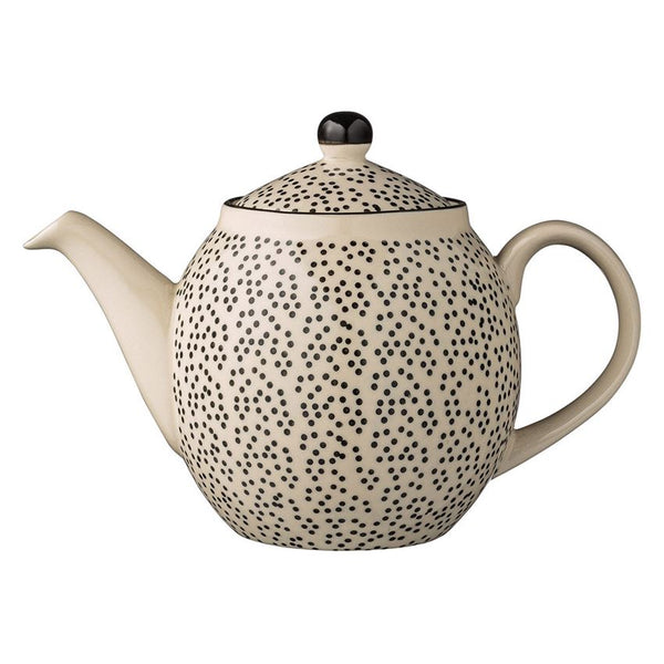 Julie Black Dots Teapot