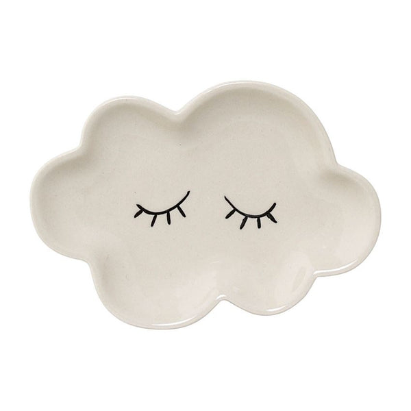 Ceramic Smilla Plate in White