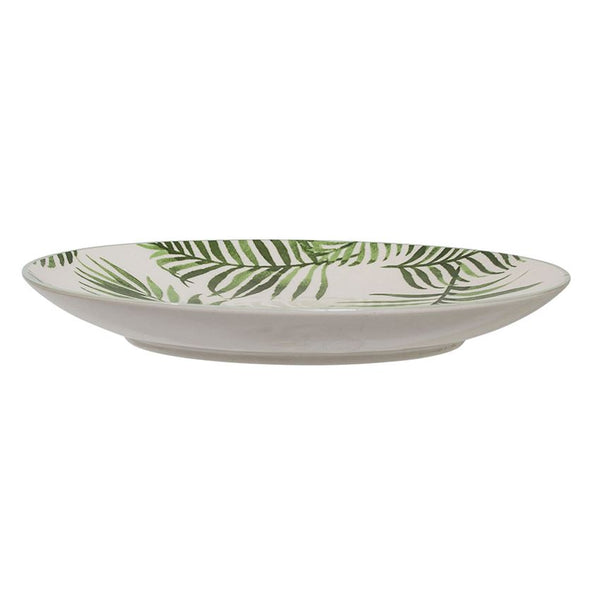 Round Jade Plate With Fern