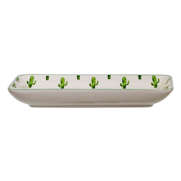 Jade Plate With Cactus