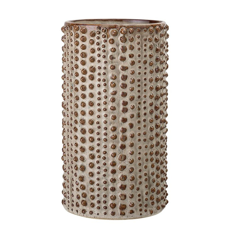 Boho Hobnail Brown Vase