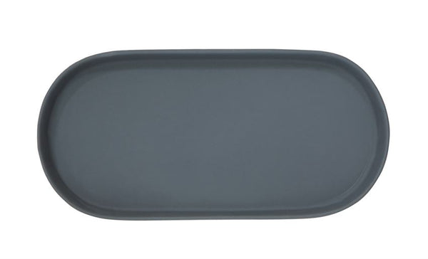 Oblong Matte Blue Platter