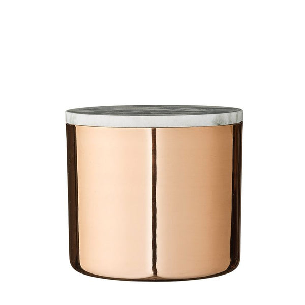 Copper Canister With A Marble Lid, 2 Sizes