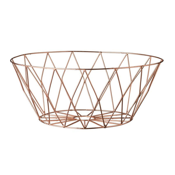 Copper Metal Basket