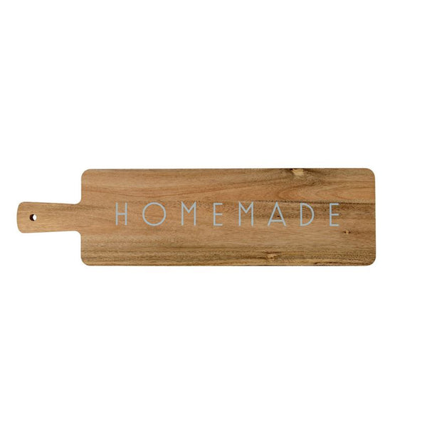 "Acacia Wood Cutting Board with ""Homemade"""
