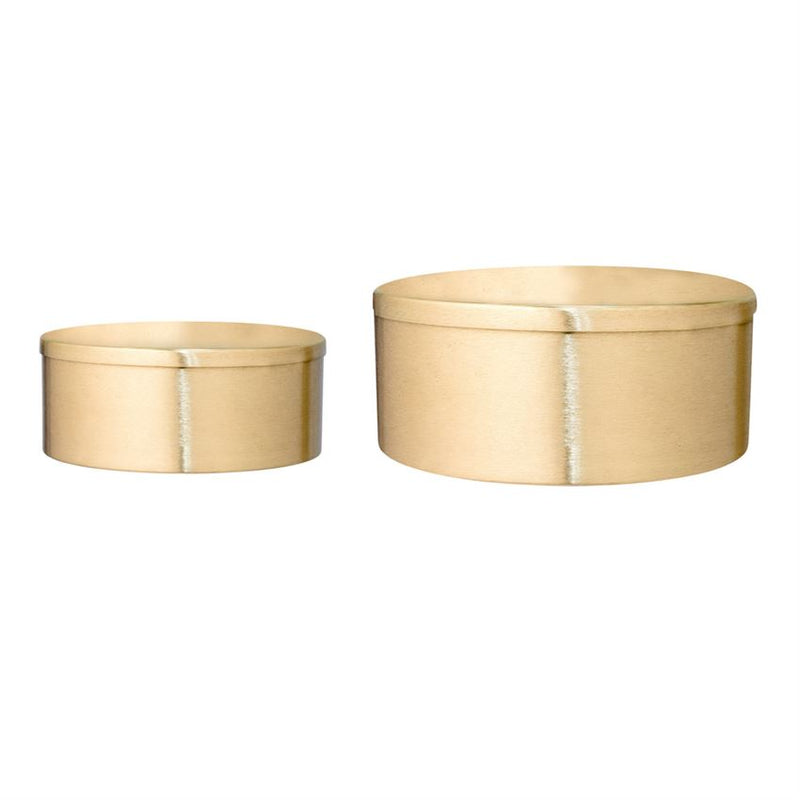 Stainless Steel Box, Gold Finish, Set of 2