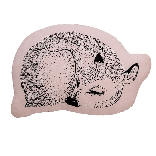 Cotton Pillow w/ Sleeping Dear, Pink