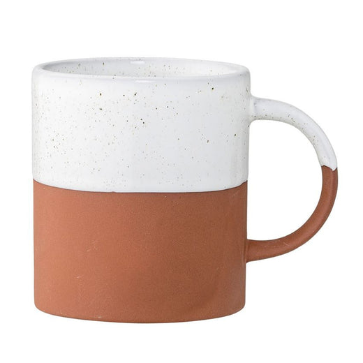 Evelyse Terra Cotta Mug, White & Clay
