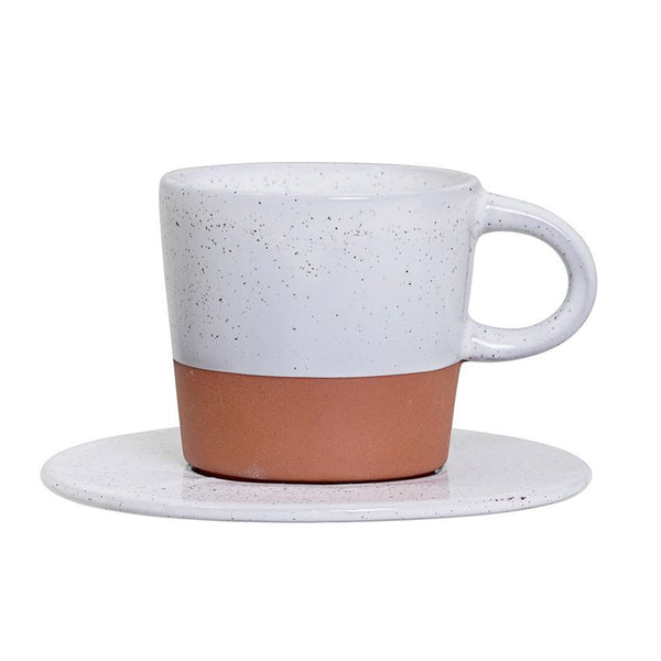 Terra Cotta Espresso Cup and Saucer
