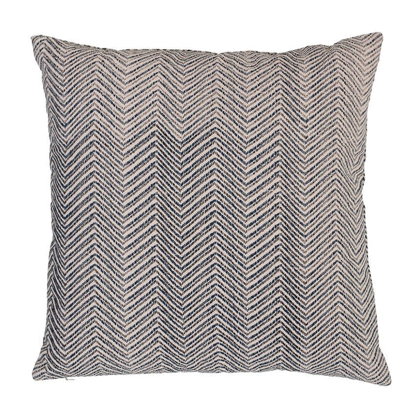 Square Cotton Pillow w/ Print, Black & White