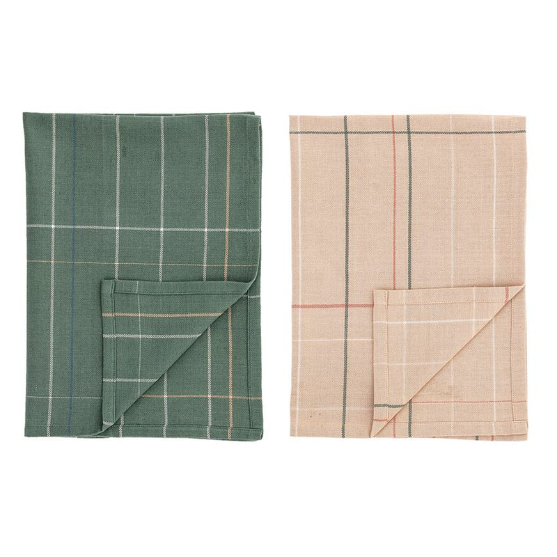 Plaid Green and Pink Kitchen Towel - 2 pack