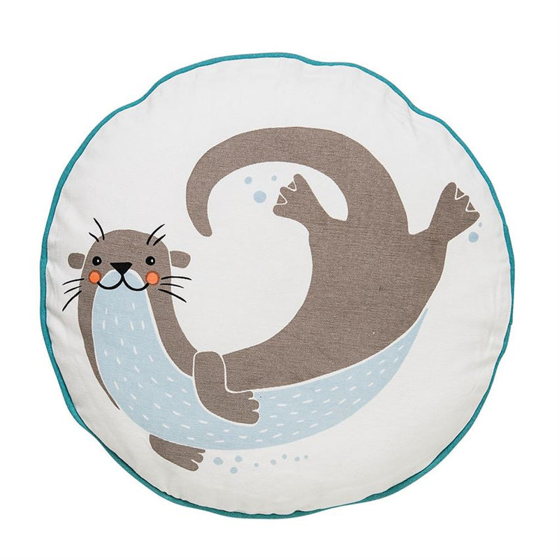 Sea Otter Pillow in Blue