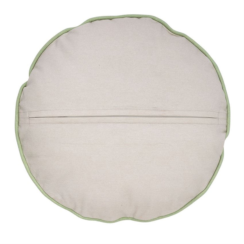 Round Botanical Fern Pillow