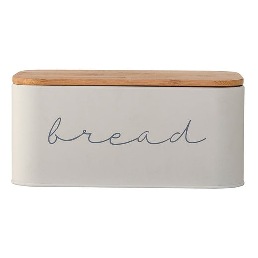 Bloomingville Bread Box Metal with Bamboo Lid