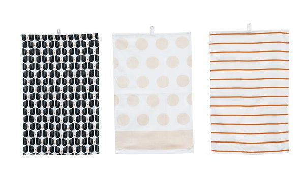 Patterned Cotton Kitchen Towel - 3 pack