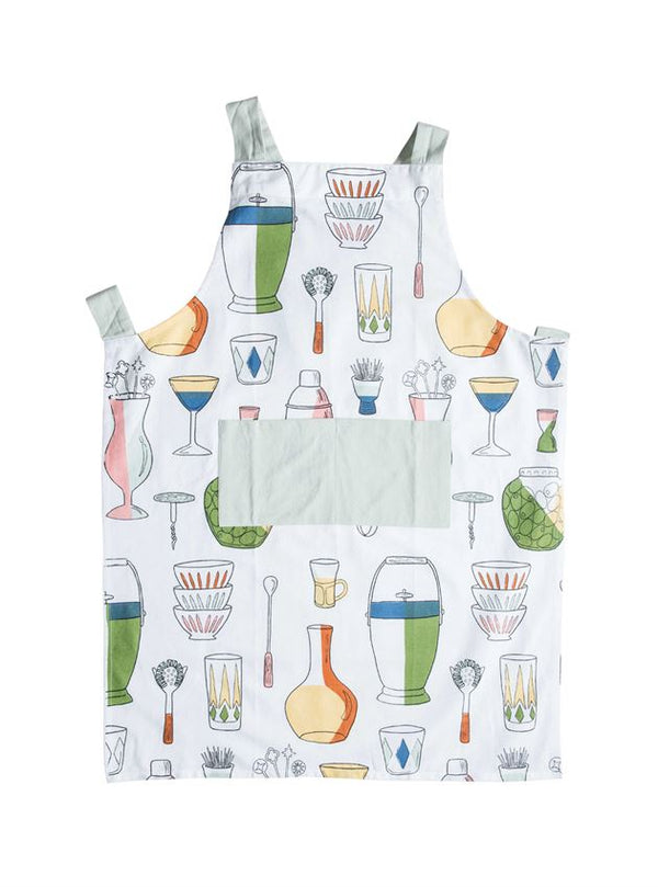 Apron w/ Barware Icons & Pockets