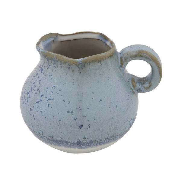 Stoneware Pitcher, Blue Reactive Glaze