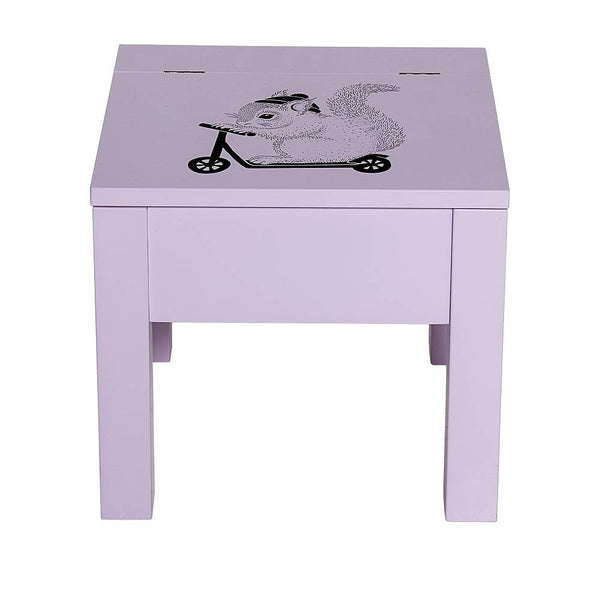 Mini Stool with storage compartment pink