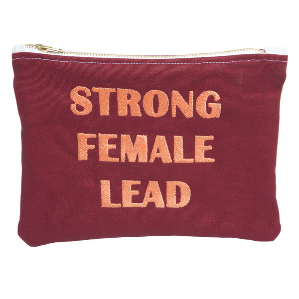 Strong Female Lead Burgundy Clutch