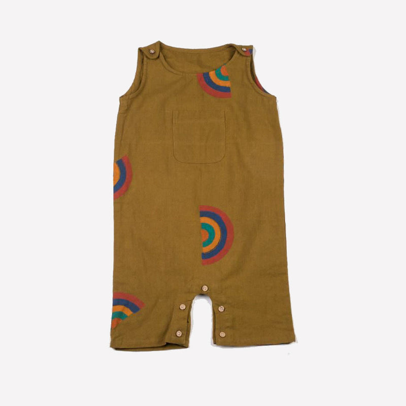 Akshu and Ing - Mustard Rainbow Romper