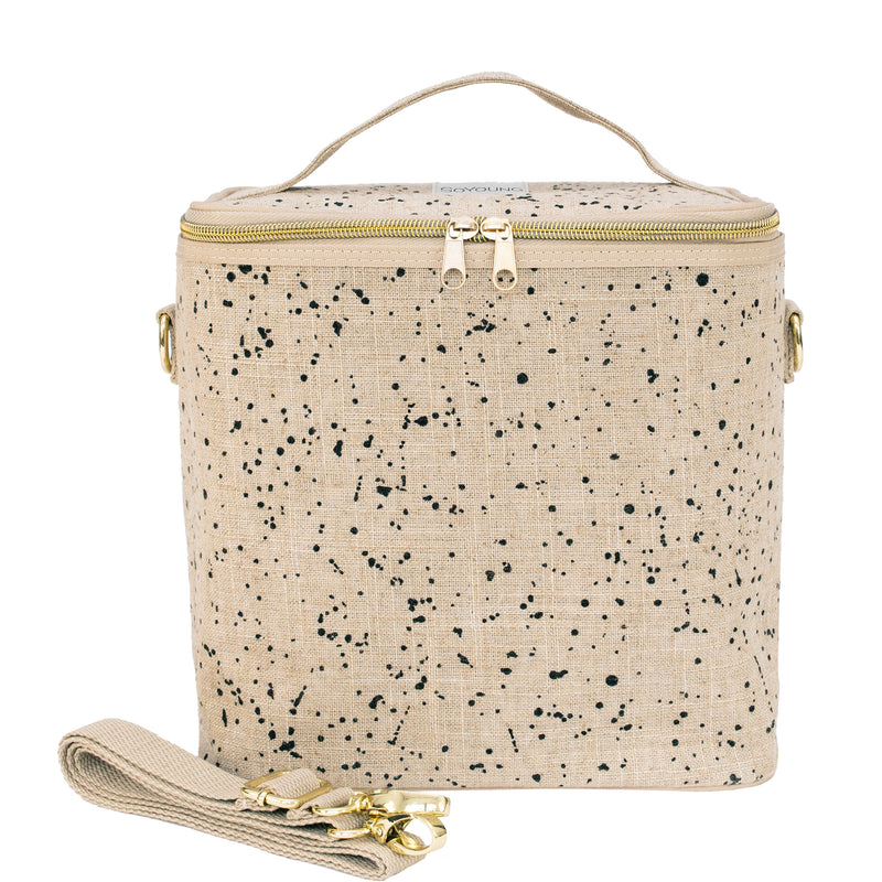 Linen-Splatter Lunch Poche