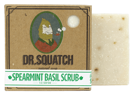 Dr. Squatch - Spearmint Basil Scrub Soap Bar