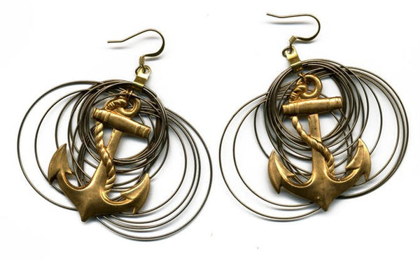 Always and Forever Earrings Brass