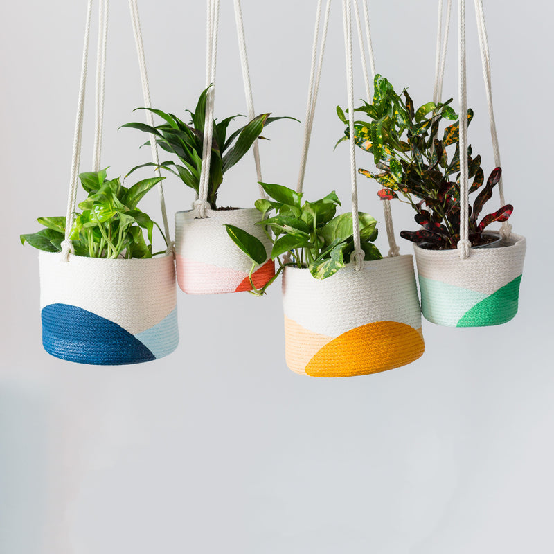 Hanging Rope Planter - Many colors and sizes