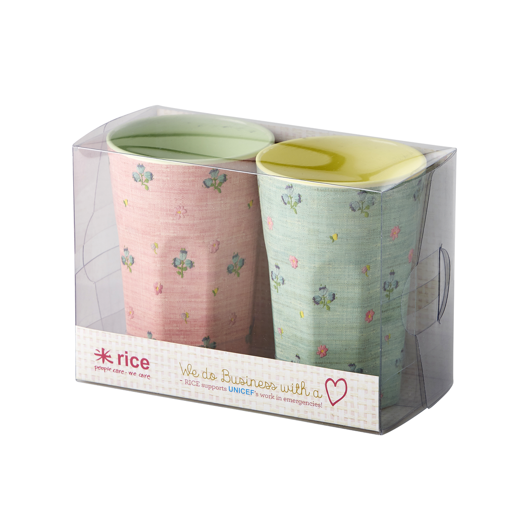 Tall Cups with Raffia Print - Supports UNICEF