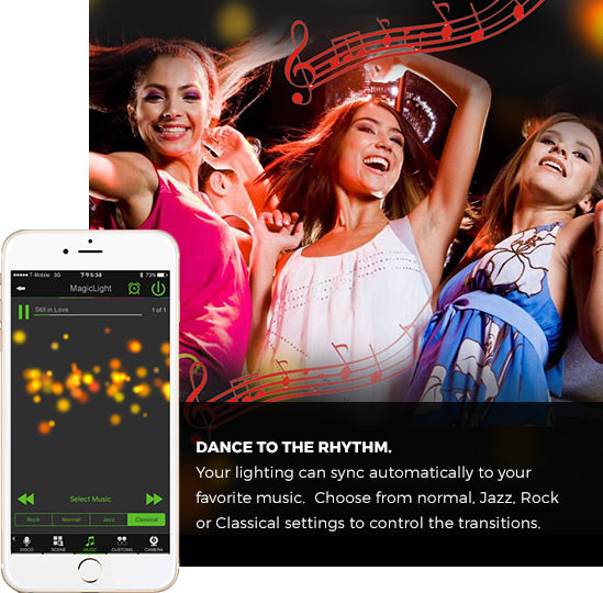 Dance to the rhythm.