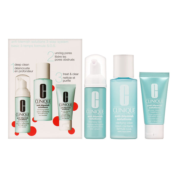 Clinique Acne Solutions Clear Skin System 3 Step Kit 3 Piece Set