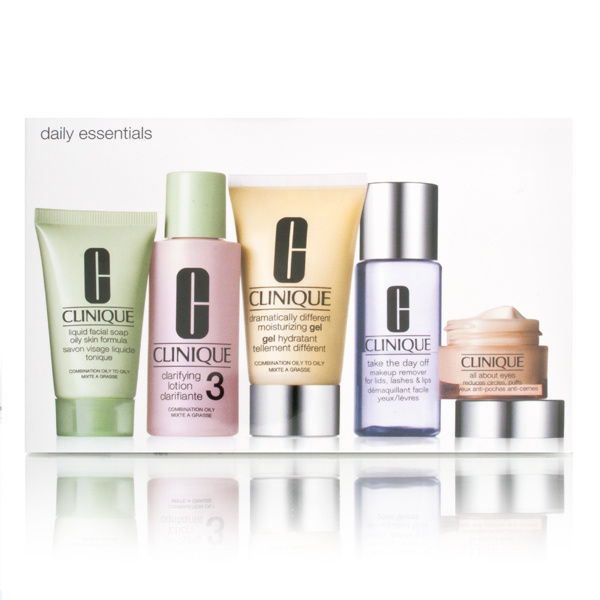 Clinique Daily Essentials 5 Piece Set 5 Piece Set for Combination to Oily Skin