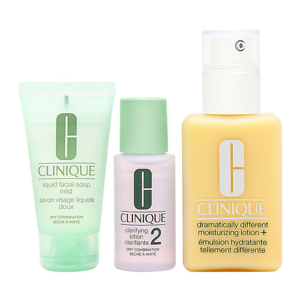 Clinique Great Skin Starts Here 3 Step Skincare Intro Kit 3 Piece Set - Dry Combination Skin