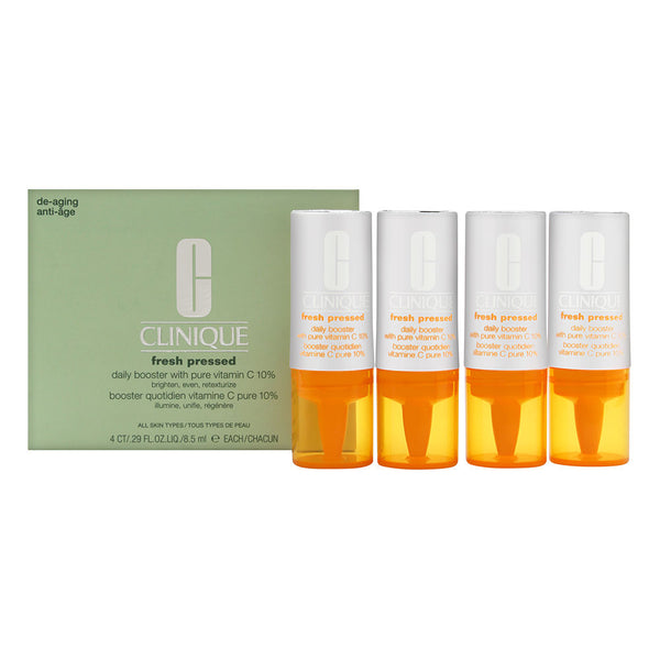 Clinique Fresh Pressed Daily Booster with Pure Vitamin C 10% 8.5ml/0.29oz x 4