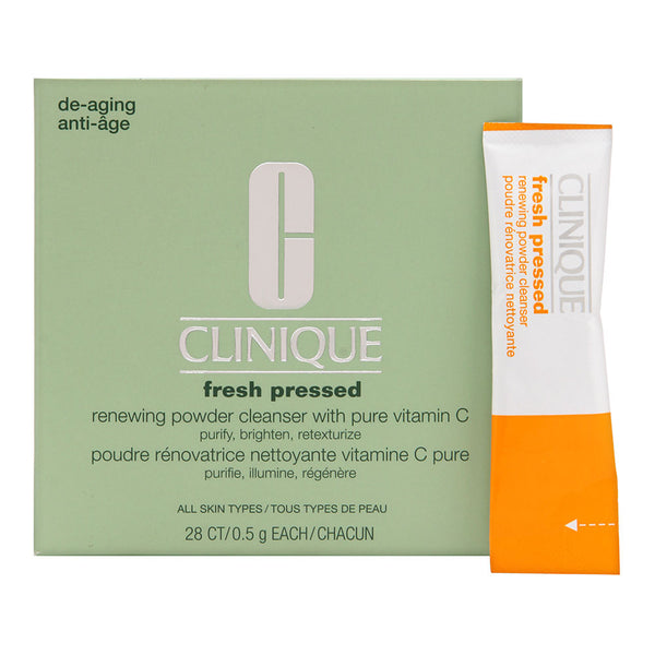 Clinique Fresh Pressed Renewing Powder Cleanser with Pure Vitamin C 5g/0.01oz x 28 Packets