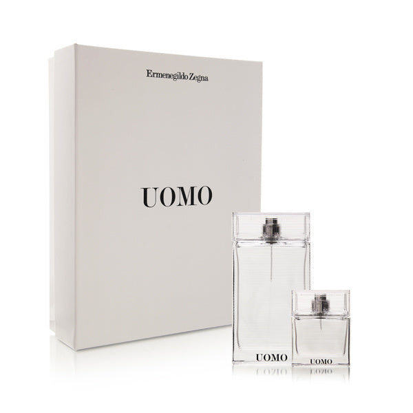 Ermenegildo Zegna Uomo 2 Piece Set Includes: 3.4 oz Eau de Toilette Spray + 1.0 oz Eau de Toilette Spray