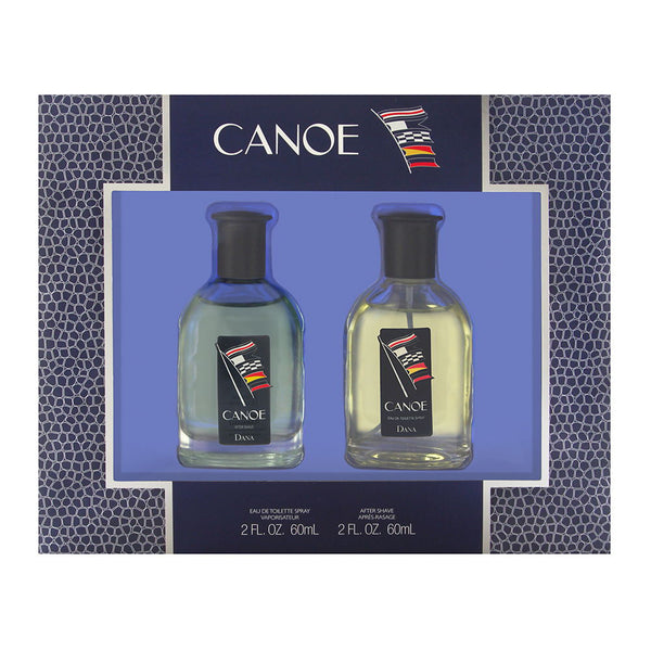 Canoe by Dana for Men 2 Piece Set Includes: 2.0 oz Eau de Toilette Spray + 2.0 oz After Shave Splash