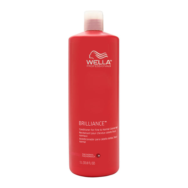 Wella Brilliance Conditioner for Fine to Normal Colored Hair 33.8 oz (1 Liter)