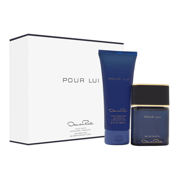Oscar Pour Lui by Oscar de la Renta for Men 2 Piece Set Includes: 3.0 oz Eau de Toilette Spray + 6.7 oz Hair & Body Wash