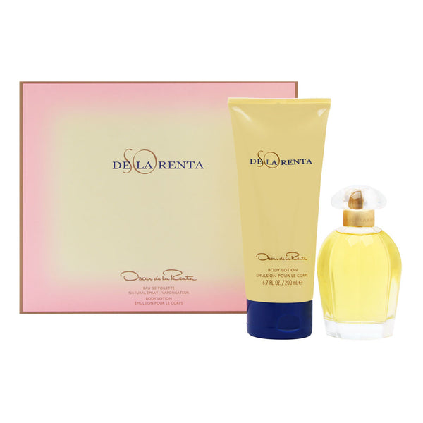So de la Renta by Oscar de la Renta for Women 2 Piece Set Includes: 3.4 oz Eau de Toilette Spray + 6.7 oz Body Lotion
