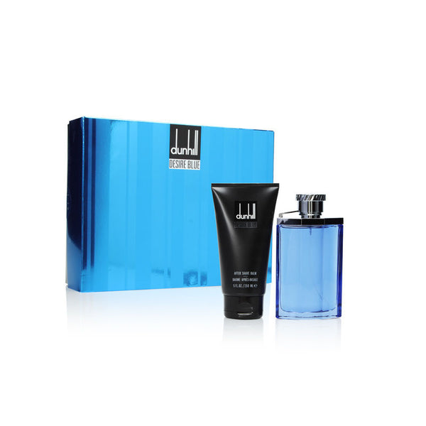 Dunhill Desire Blue by Alfred Dunhill for Men 2 Piece Set Includes: 3.4 oz Eau de Toilette Spray + 5.0 oz After Shave Balm