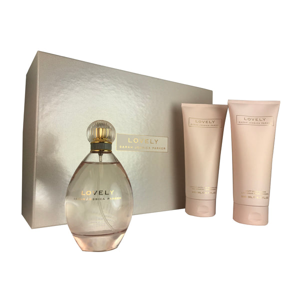 Lovely By Sara Jessica Parker 3.4 oz Eau De Parfum Spray 3 Piece Gift Set